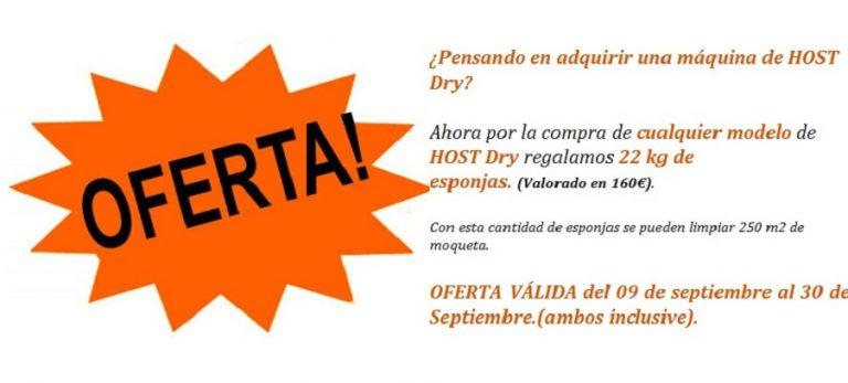 Oferta Host Dry Spain (Del 9 de Septiembre al 30 de Septiembre de 2013)