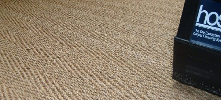 Limpieza de alfombras de fibra natural con HOST Dry