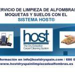 Servicio de limpieza de moquetas con el sistema HOST