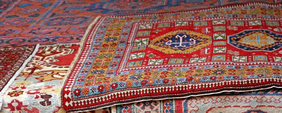 sistema de limpieza de alfombras orientales