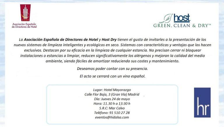 Próxima presentación de Host en Madrid