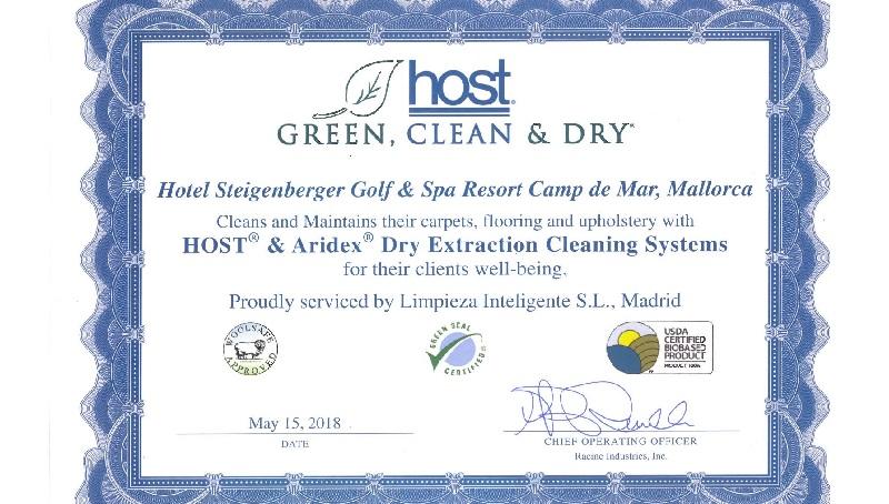 Entrega del certificado Host al Hotel Steigenberger de Mallorca